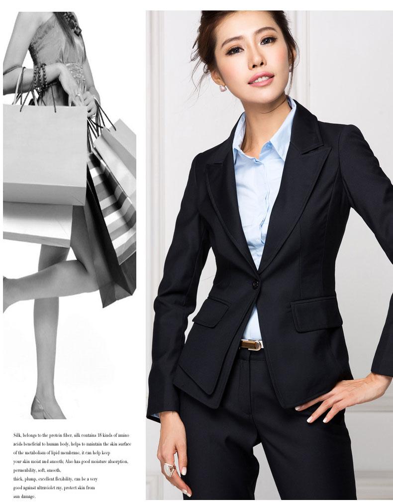 yyswz-003秋冬新款职业装女装套装女士正装套裤时尚长袖西装外套